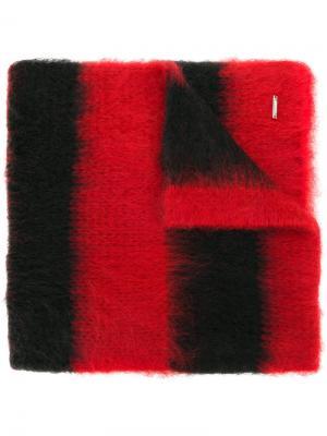 Полосатый объемный шарф Dondup. Цвет: чёрный