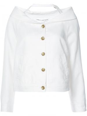 Пиджак с приспущенными плечами Robert Rodriguez. Цвет: белый