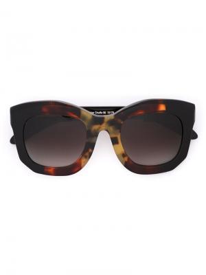 Солнцезащитные очки Maske B2 Kuboraum. Цвет: коричневый