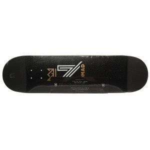 Дека для скейтборда  Og Logo Black Deck 31.75 x 8.0 (20.3 см) Nomad. Цвет: черный