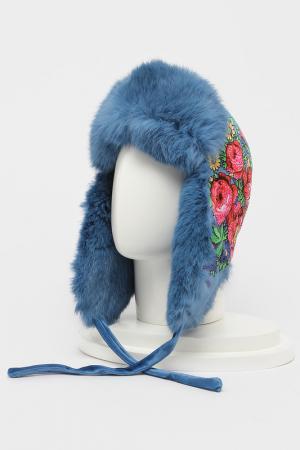 Шапка-ушанка Romax. Цвет: мех темно-голубой