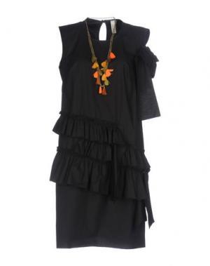 Короткое платье SOUVENIR. Цвет: черный