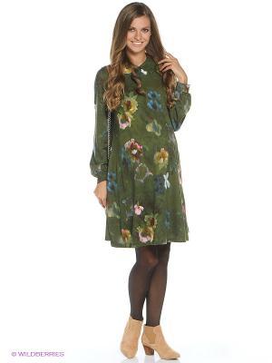 Платье MammySize. Цвет: зеленый