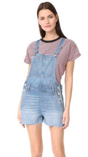 Комбинезон-шорты Madewell. Цвет: голубой