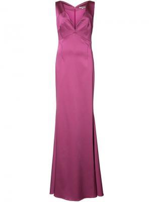 Вечернее платье Cordelia Zac Posen. Цвет: розовый и фиолетовый