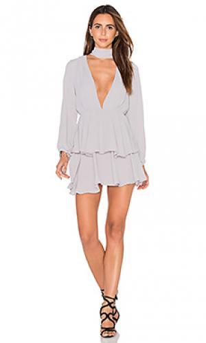 Платье amalfi LIONESS. Цвет: серый