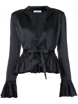 Блузка с оборками Tome. Цвет: чёрный