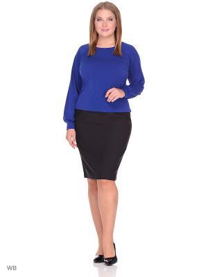 Блузка Анжелика Runika. Цвет: синий