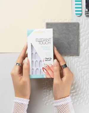 Elegant Touch Прозрачные накладные ногти с острыми кончиками Totally B. Цвет: очистить