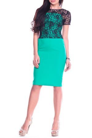 Платье REBECCA TATTI. Цвет: зеленый, черный