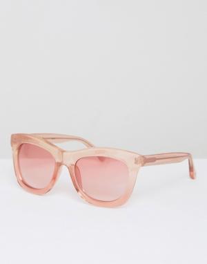 Markus Lupfer Солнцезащитные очки в розовой блестящей оправе с розовыми стеклами Mar. Цвет: розовый