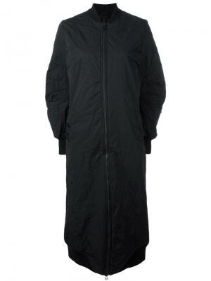 Объемное пальто на молнии Barbara I Gongini. Цвет: чёрный