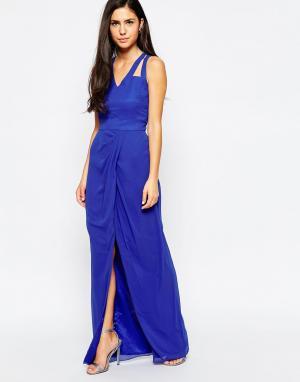 VLabel London Платье макси Amberley. Цвет: синий