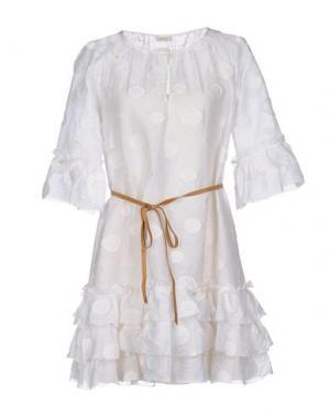Короткое платье GOLD CASE. Цвет: белый