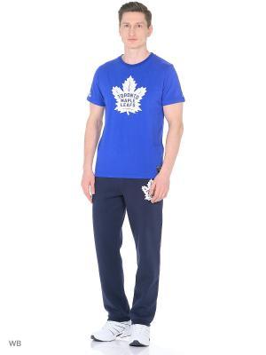 Футболка NHL Maple Leafs Atributika & Club. Цвет: синий