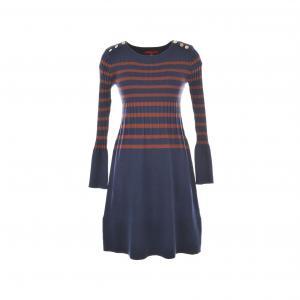 Платье Bonze из трикотажа в полоску RENE DERHY. Цвет: синий морской