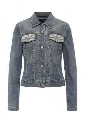 Куртка джинсовая Husky. Цвет: синий