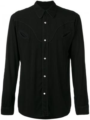 Рубашка Western Htc Hollywood Trading Company. Цвет: чёрный