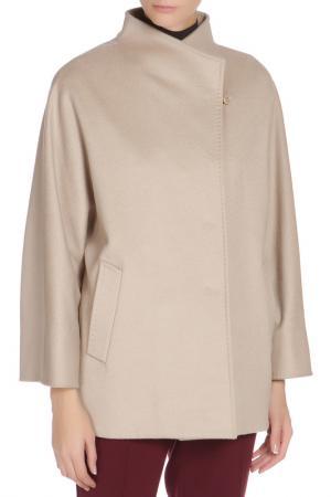 Свободное пальто с застежкой на кнопки Cinzia Rocca. Цвет: бежевый