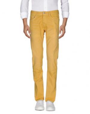 Джинсовые брюки CARE LABEL. Цвет: желтый