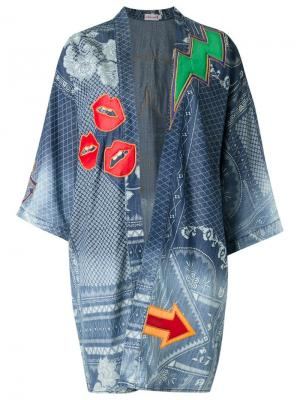 Кимоно с принтом Isabela Capeto. Цвет: синий