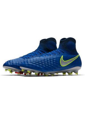 Бутсы MAGISTA OBRA II FG Nike. Цвет: синий