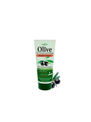 Герболив крем для рук с экстрактом шалфея и рожкового дерева, 100мл Madis S.A.. Цвет: оливковый