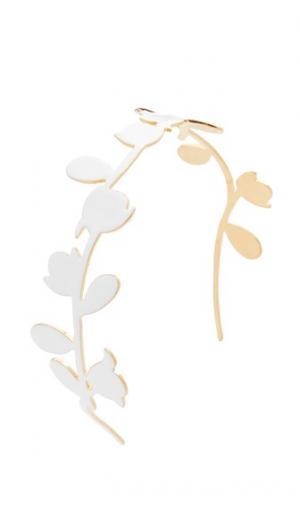 Металлический обруч Marni. Цвет: белая лилия