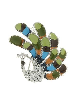 Брошь Infiniti. Цвет: зеленый, голубой, серебристый, оранжевый