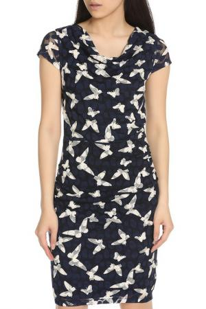Классическое платье с принтом YUMI. Цвет: navy