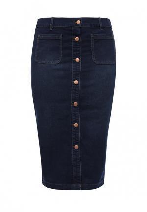 Юбка джинсовая Evans. Цвет: синий