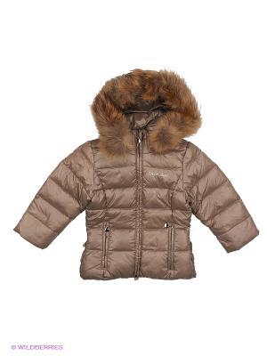 Куртка MES AMI. Цвет: коричневый, золотистый