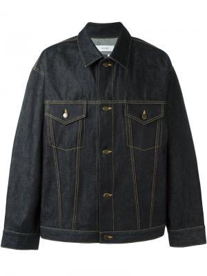 Джинсовая куртка Facetasm. Цвет: синий