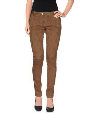 Повседневные брюки BONHEUR. Цвет: коричневый