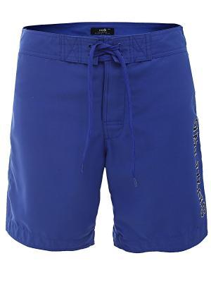 Шорты Oodji. Цвет: темно-синий, темно-фиолетовый