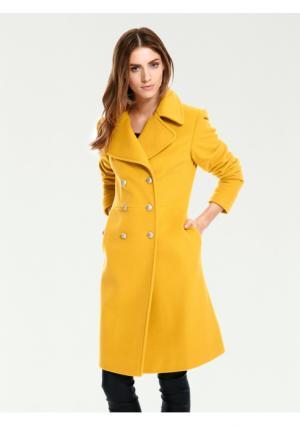 Пальто RICK CARDONA by Heine. Цвет: желтый, черный, экрю