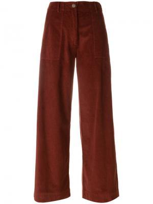 Расклешенные брюки Semicouture. Цвет: красный