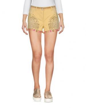 Джинсовые шорты MAISON SCOTCH. Цвет: желтый