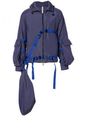 Belt detail bomber jacket Cottweiler. Цвет: розовый и фиолетовый