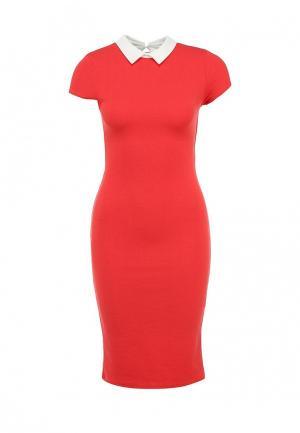 Платье Girlondon. Цвет: коралловый