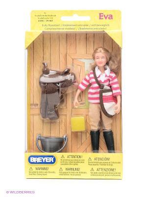 Набор Кукла Ева с аксессуарами для лошади Breyer. Цвет: черный, розовый, белый