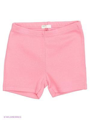 Шорты United Colors of Benetton. Цвет: розовый, белый