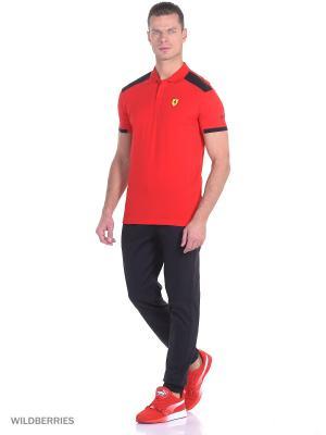 Футболка-поло SF Polo Puma. Цвет: красный