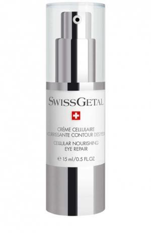 Питательный крем для век Swissgetal. Цвет: бесцветный