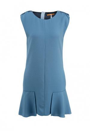 Платье Boss Orange. Цвет: голубой