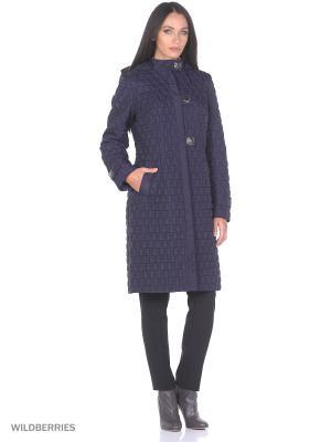 Стеганое пальто Brillare. Цвет: темно-фиолетовый