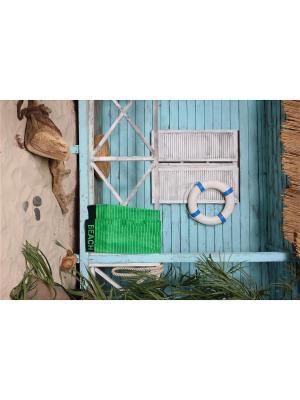 Полотенце пляжное 90х160 Beach зеленый TOALLA. Цвет: зеленый