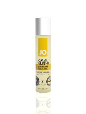 Гель вкусовой Oral Delight - Vanilla Thrill ванильный SYSTEM JO. Цвет: черный, желтый