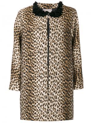 Леопардовое пальто Antonio Marras. Цвет: коричневый