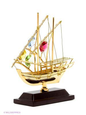 Фигурка Яхта на подставке Юнион. Цвет: золотистый